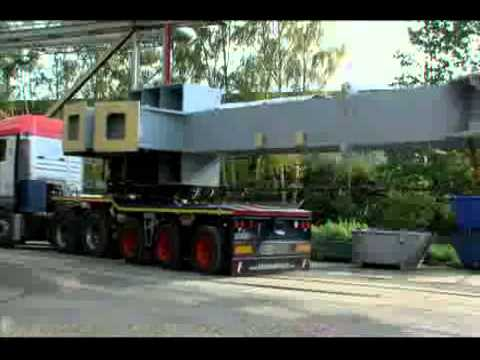 Universal Transport - Steel structure transport with new self-steering trailer by Faymonville