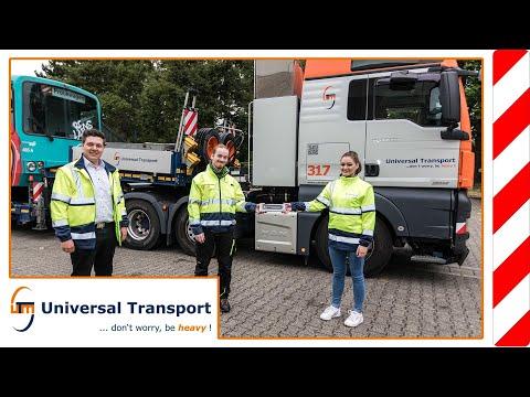 """Zu Gast bei einem Schwertransport... """"Aktion Lichtblicke"""" - Universal Transport"""